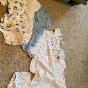 Lot of 6-9 month baby short sleeve onesies
